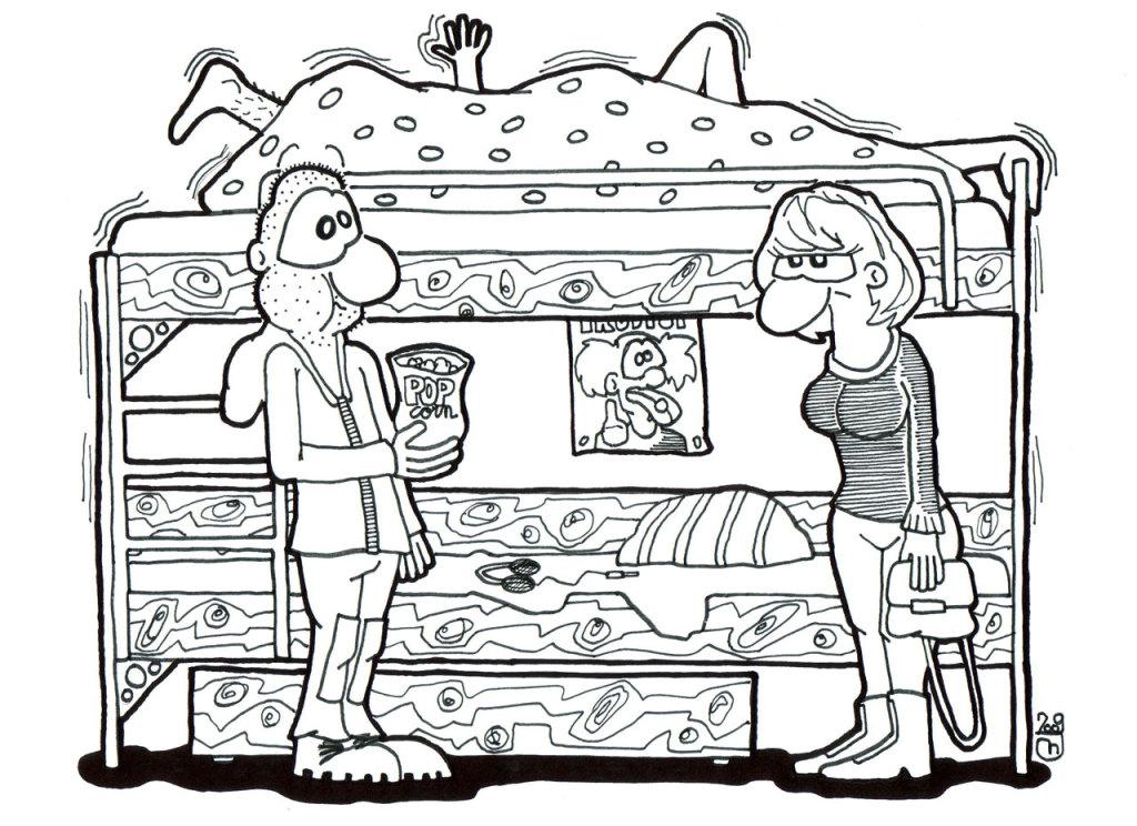"""""""Ano,"""" zavzdychala, """"dělej mi to,"""" a zase rozpohybovala postel."""